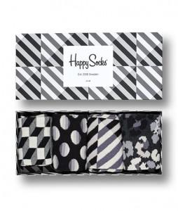 #35-skarpety-skarpetki-zestaw-happy-socks-seasonal-black-white-gift-box-4-pak-(XBLW09-9100)-urbanstaff-casual-streetwear-1